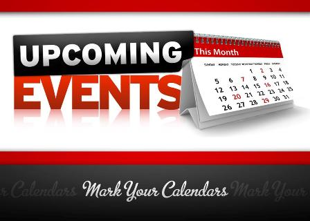 UPCOMING CALENDAR OF EVENTS